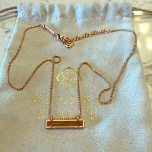 Kendra Scott Leanor Rose Gold Bar Necklace